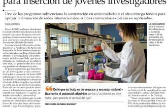 Conicyt lanza dos nuevos concursos para inserción de jóvenes investigadores