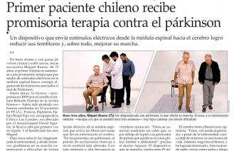 Primer paciente chileno recibe promisoria terapia contra el parkinson